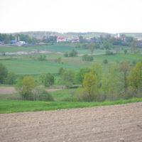 widok na dwa kościoły