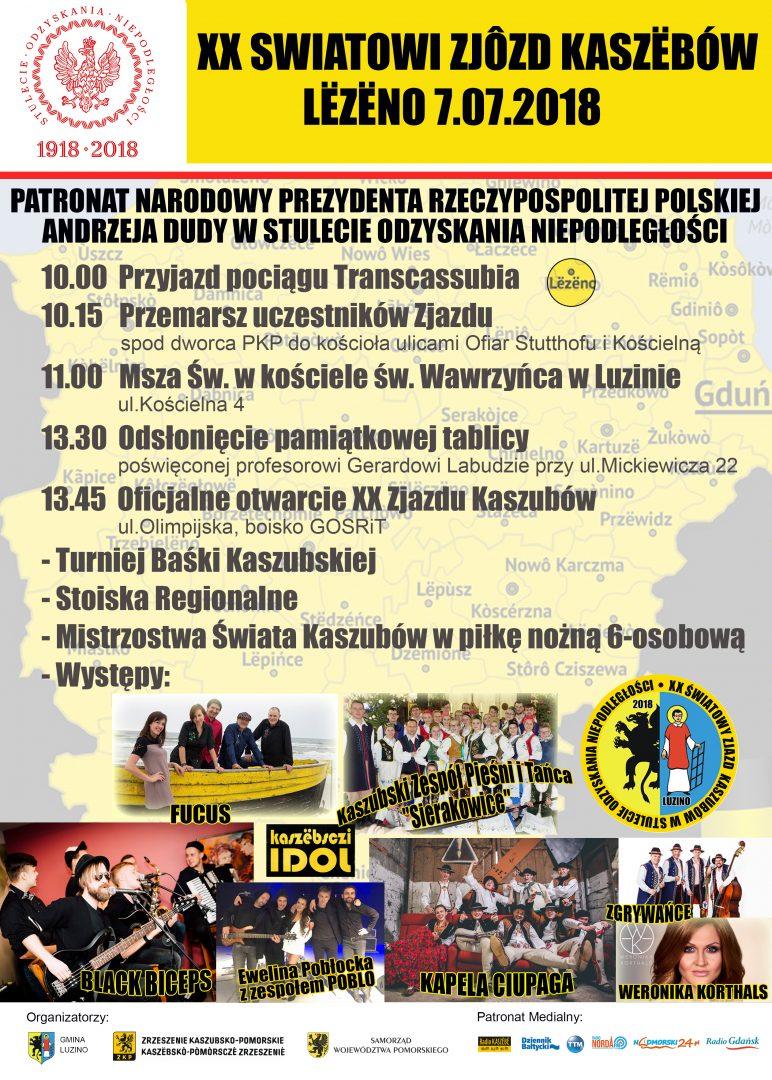 XX Zjazd Kaszubów - oficjalny plakat